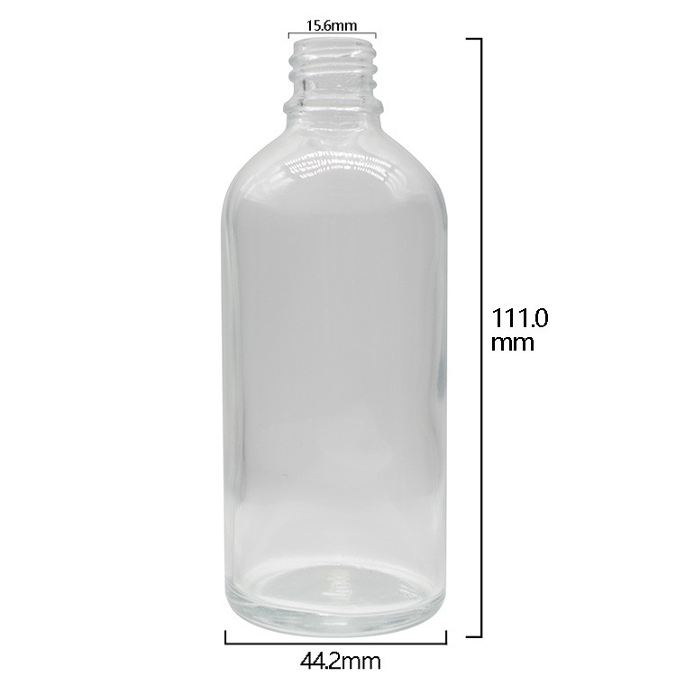 100ml Clear Round Glass Dropper Bottles For Essential Oils