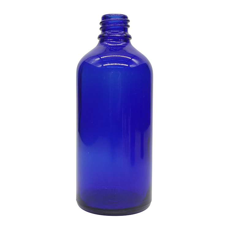100ml Cobalt Blue Round Glass Dropper Bottles For Essential Oils