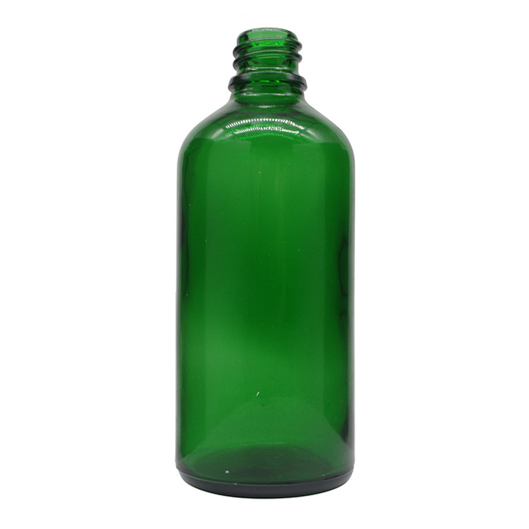 100ml Green Round Glass Dropper Bottles For Essential Oils