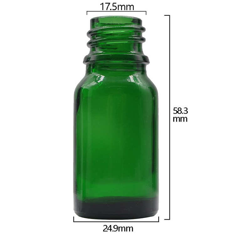 10ml Green Round Glass Dropper Bottles For Essential Oils