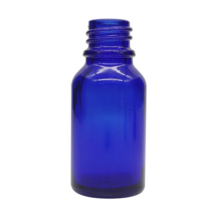 15ml Cobalt Blue Round Glass Dropper Bottles For Essential Oils