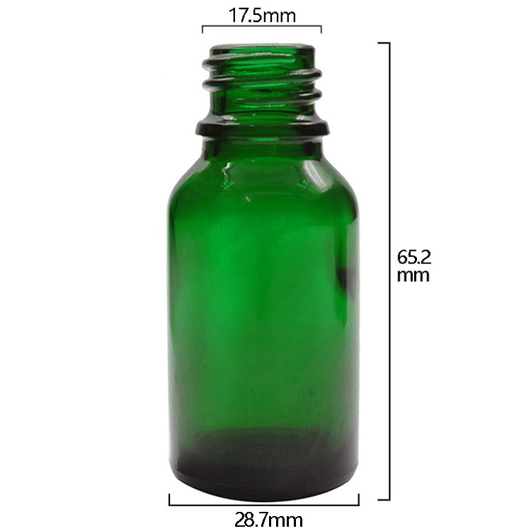 15ml Green Round Glass Dropper Bottles For Essential Oils