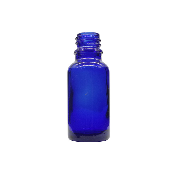 20ml Cobalt Blue Round Glass Dropper Bottles For Essential Oils