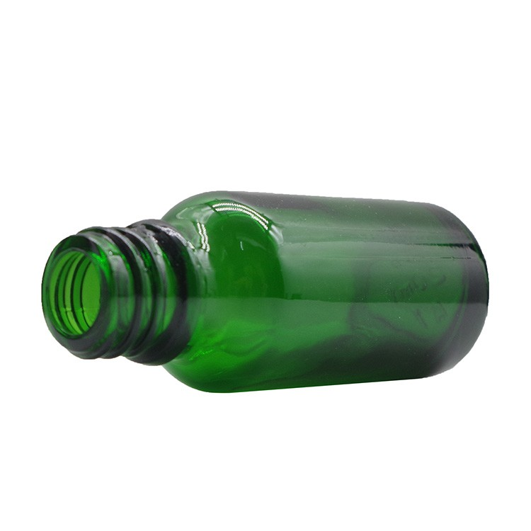 20ml Green Round Glass Dropper Bottles For Essential Oils