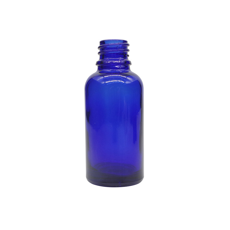 30ml Cobalt Blue Round Glass Dropper Bottles For Essential Oils
