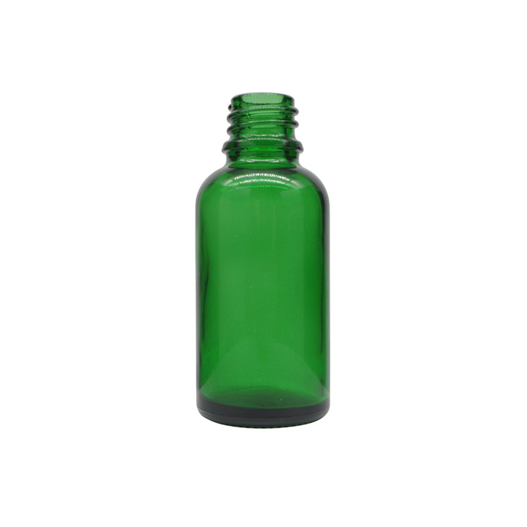 30ml Green Round Glass Dropper Bottles For Essential Oils