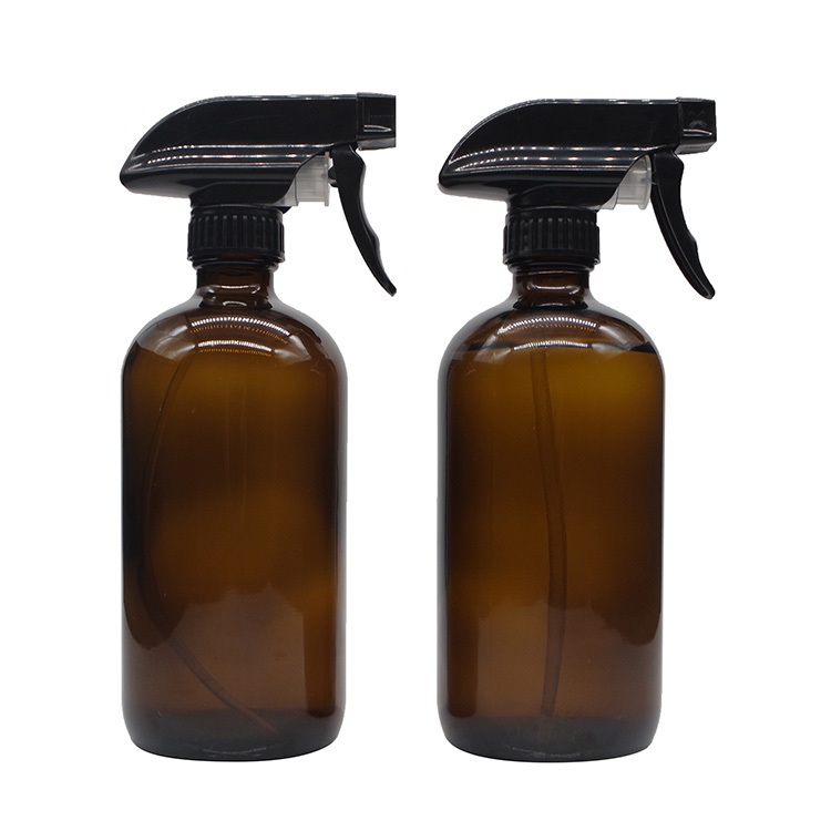 500ml 16oz Amber Glass Spray Bottles