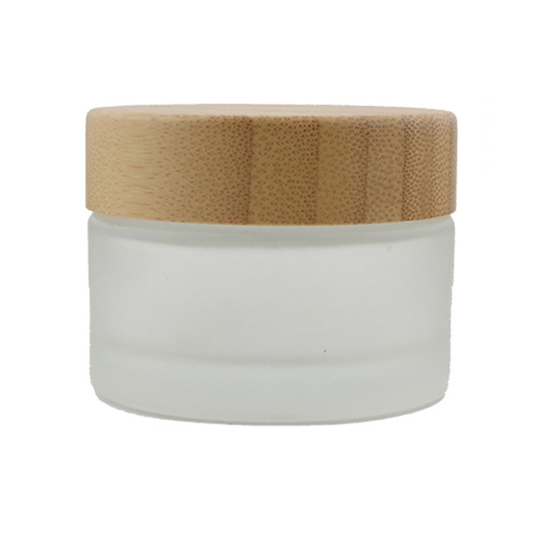50g Frosted Glass Cosmetic Face Cream Jar Bottle