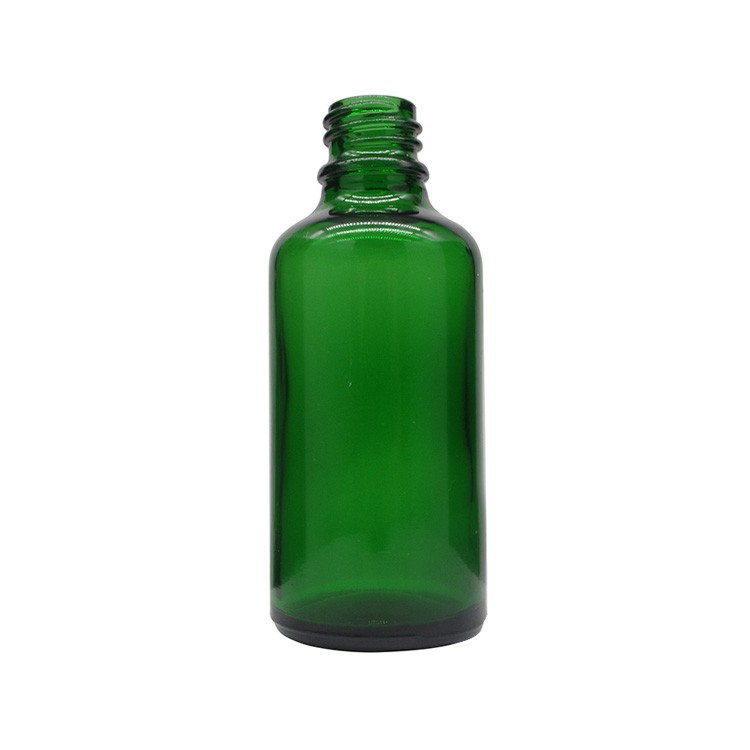 50ml Green Round Glass Dropper Bottles For Essential Oils