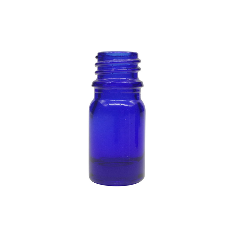 5ml Cobalt Blue Round Glass Dropper Bottles For Essential Oils