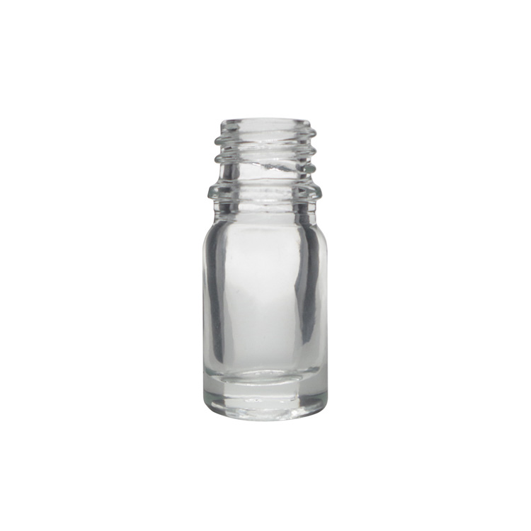 5ml Clear Round Glass Dropper Bottles For Essential Oils