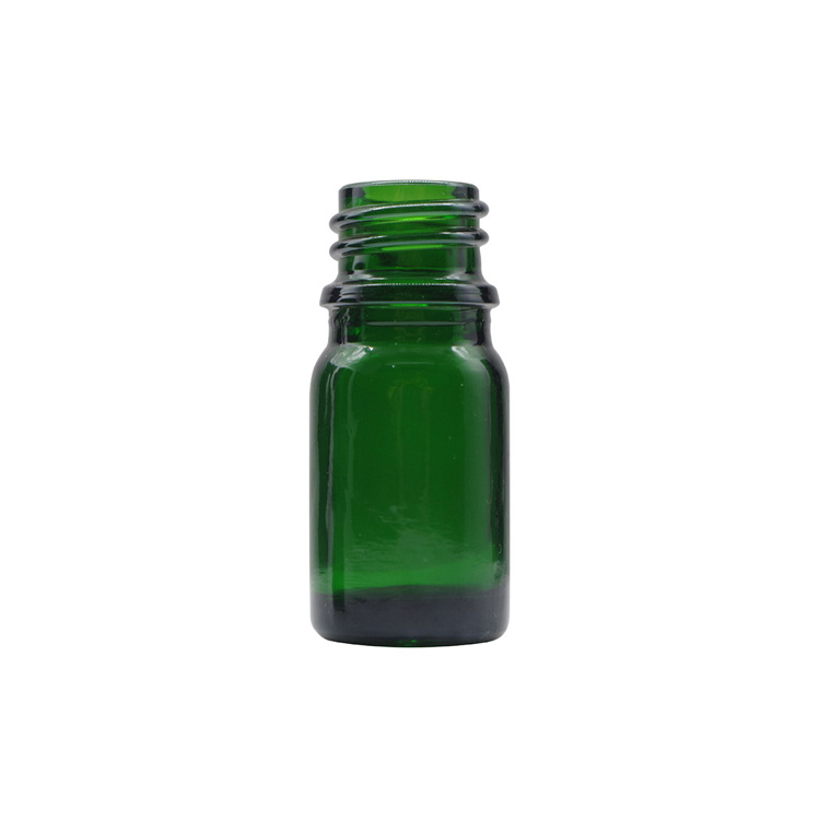 5ml Green Round Glass Dropper Bottles For Essential Oils